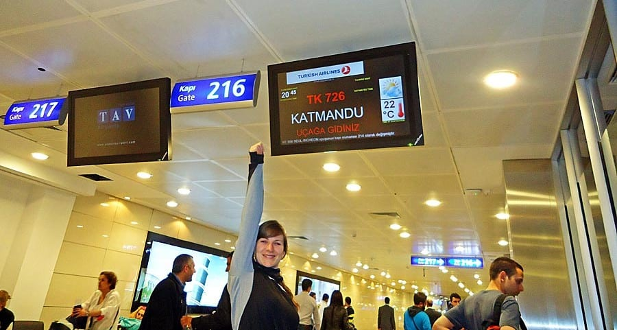 Flughafen Istanbul: Auf dem Weg nach Nepal