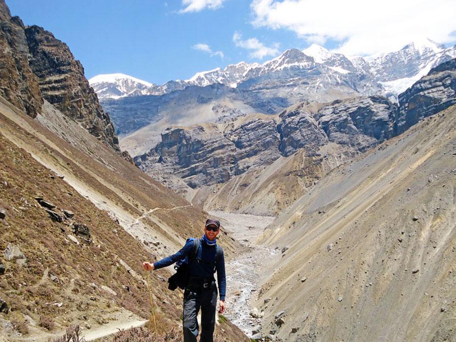 Annapurna Circuit Trek: Die Landschaft auf dem Weg nach Thorong Phedi