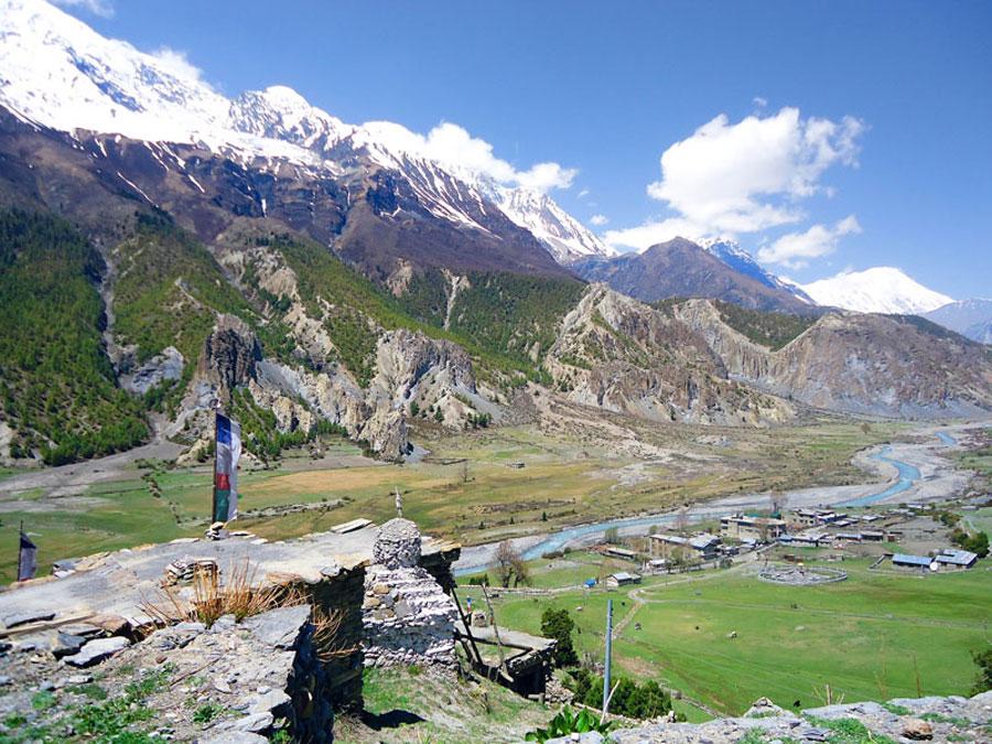Annapurna Circuit: Blick auf Bragha
