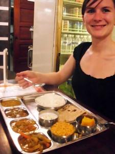 Leckere Curryvarianten in einem indischen Restaurant