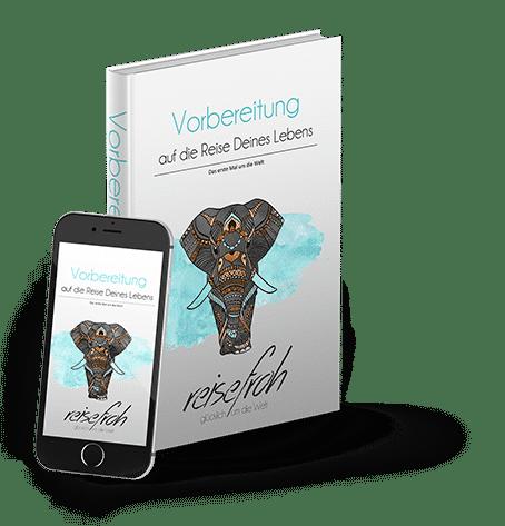 eBook Weltreise planen - Cover mit Smartphone