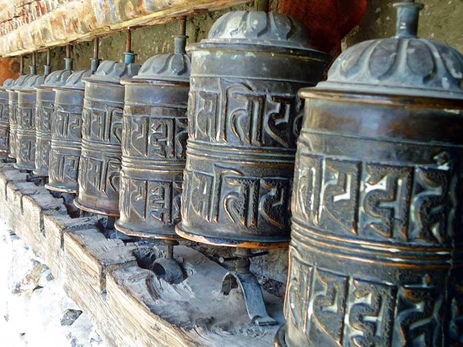 Annapurna Circuit: Gebetsmühlen in Manang