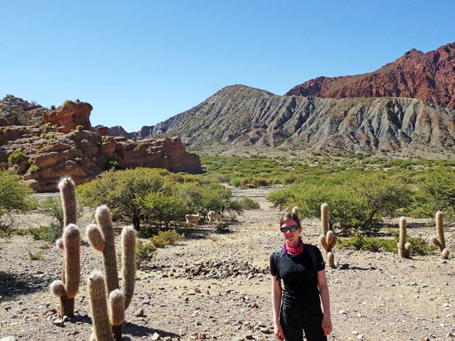 Trekking Bolivien: Unser Trek durch die Mondlandschaft bei Tupiza.