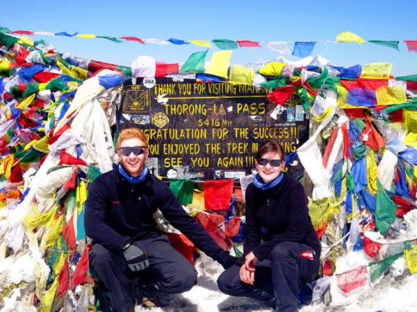 Der Thorong La Pass auf 5.416m Höhe