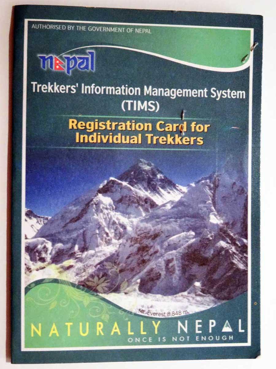 Jeder Trekker im Annapurna-Gebiet braucht eine TIMS-Karte