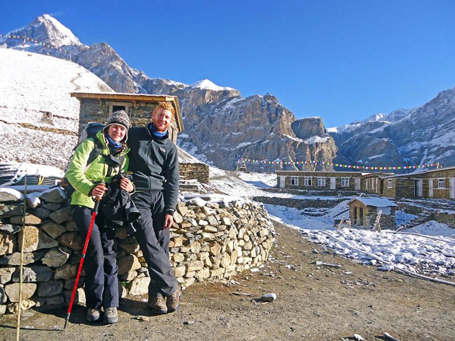 Annapurna Circuit: Auf der Runde gibt es einfache Unterkünfte - Thorong Phedi, Tilicho und Ghorepani