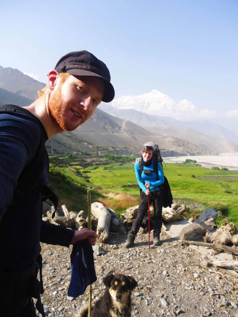Auf dem Weg nach Jomsom im Annapurna-Gebiet
