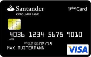 Kreditkarte Weltreise: 1Plus Reisekreditkarte Santander weltweit kostenlos Geld abheben