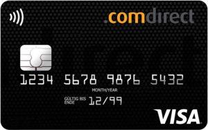 Weltreise Kreditkarte: Die Visakarte, Reisekreditkarte der Comdirect - für Bargeldabhebungen und Automatengebühren