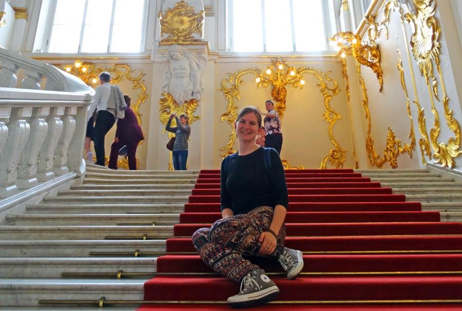 St. Petersburg Attraktionen: Jordantreppe im Winterpalast - Eremitage