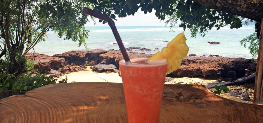Koh Mak Thailand: Leckerer Fruchtshake am Ao Kao White Sand Beach