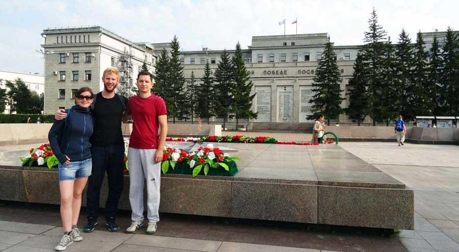 Reisebericht Russland: Unterwegs lernen wir Alex kennen und er macht mit uns eine spontane Stadtführung durch seine Heimatstadt Irkutsk