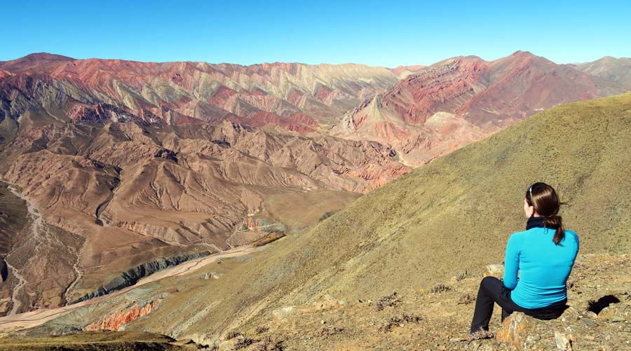Nordargentinen: Ausblick auf die Quebrada de Humahuaca, Argentinien