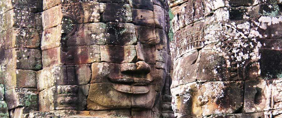 Angkor Wat: Der Bayon Tempel in Angkor Thom