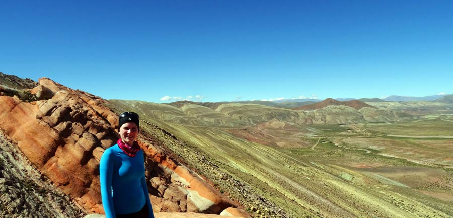 Argentinien: Anne bei einer Wanderung im Norden Argentiniens