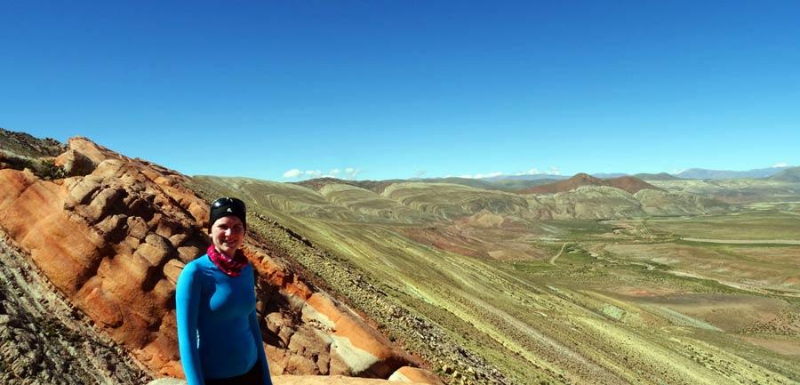 Anne bei einer Wanderung im Norden Argentiniens