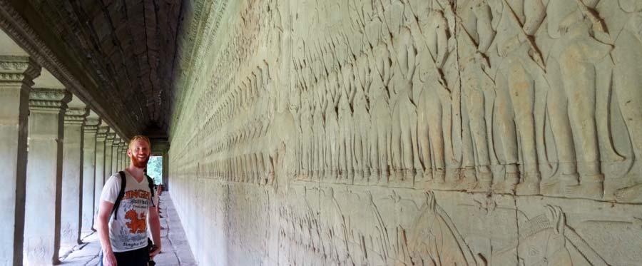 Angkor Wat: Wunderschöne Reliefs auf Tempel