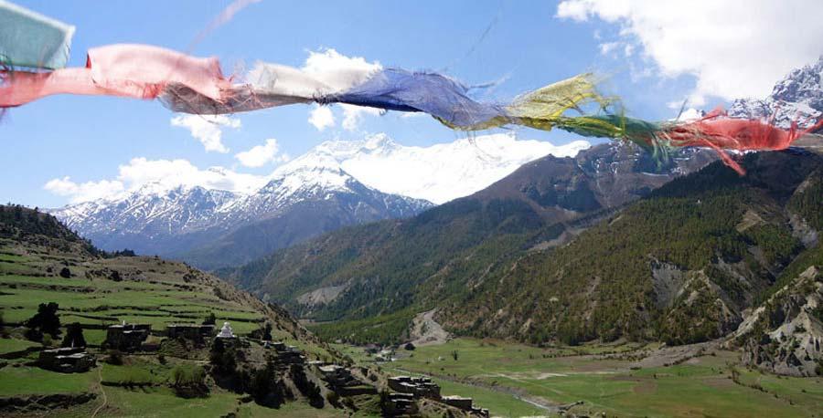 Gebetsflaggen in Nepal