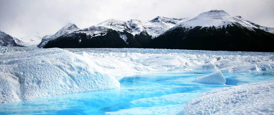 Ein Gletscher in Patagonien, Argentinien