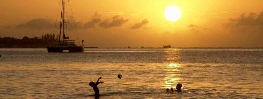 Sonnenntergang über der Küste von Nicaragua