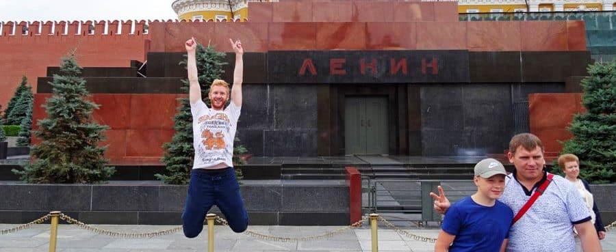 Das Lenin-Mausoleum in Moskau, Russland