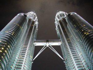 Die Petronas Towers in Kuala Lumpur, Malaysia
