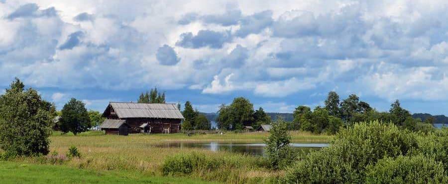 Wunderschöne Landschaft im Osten Russlands