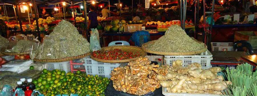 Nachtmarkt in Kota Kinabalu, Ost-Malaysia