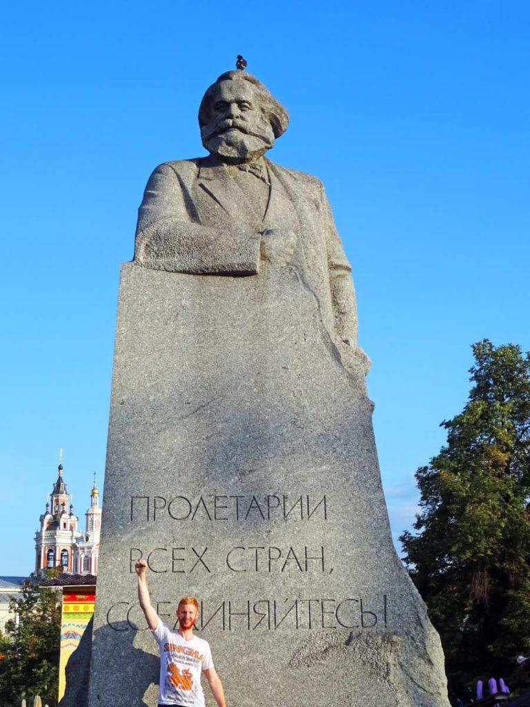 Die Karl-Marx Statue in Moskau, Russland