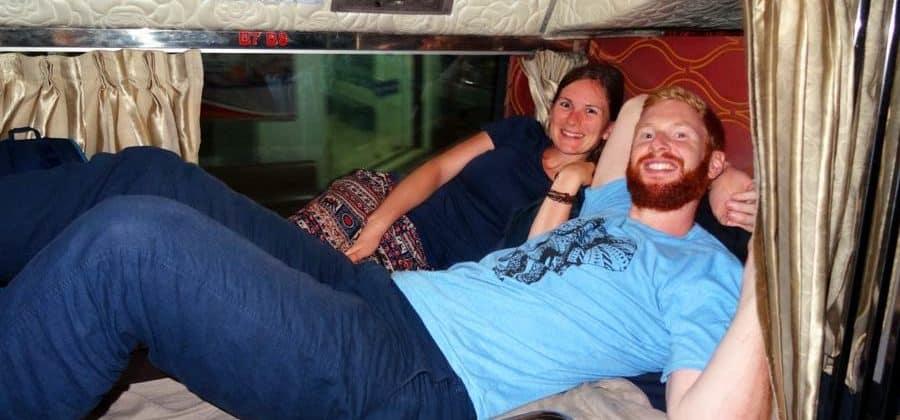 Komfortabler Nachtbus von Battambang nach Kampot, Kambodscha
