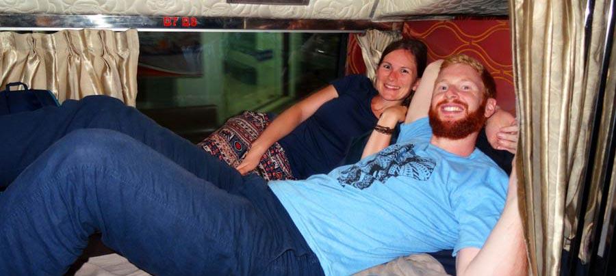 Weltreise Kosten: Mit dem Nachtbus nach Phnom Penh