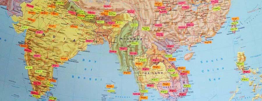 Die Routenplanung ist ein wesentlcher Teil der Planung einer Weltreise
