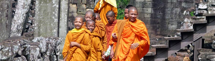 June Moenche in Kambodscha