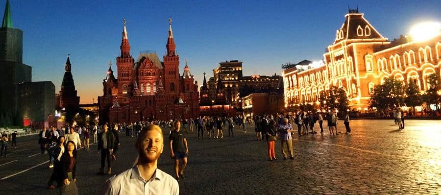 Der Rote Platz in Moskau bei Nacht
