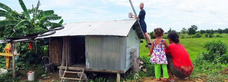 Wir haben Solaranlagen in der Region Battambang installiert