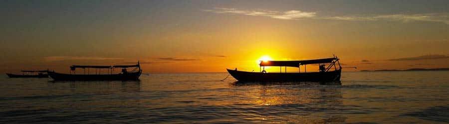 Sonnenuntergang ueber Sihanoukville
