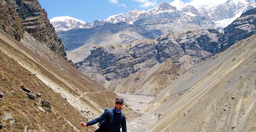 Auf einer Trekking-Tour durch das Annapurna Gebirge in Nepal