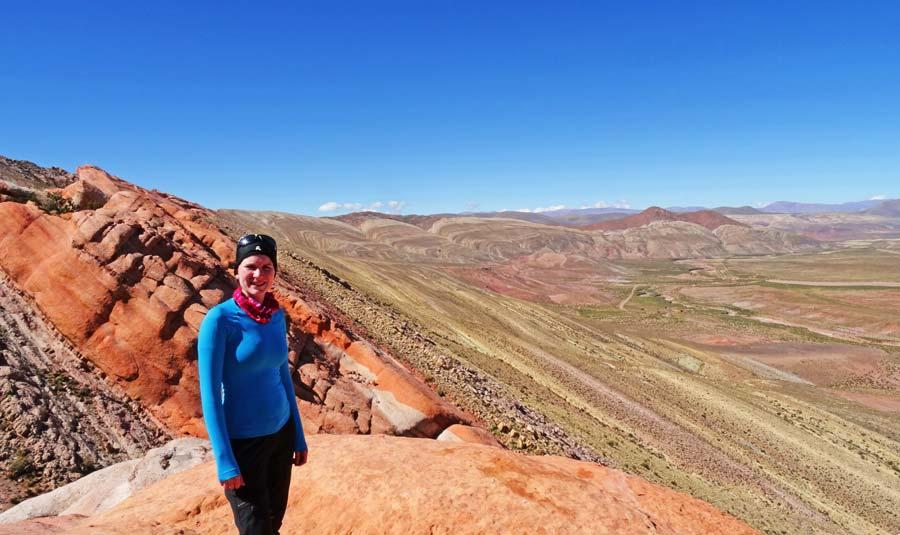 Nordargentinen: Der anstrengende Aufstieg hat sich gelohnt! Was für eine Aussicht!
