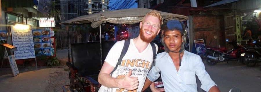 Tuk-Tuk Fahrer in Kambodscha sind sehr freundlich und hilfsbereit