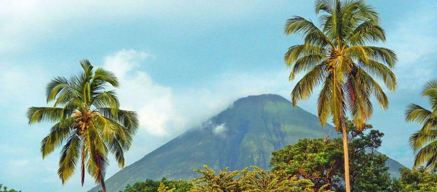 Ein Vulkan in Nicaragua
