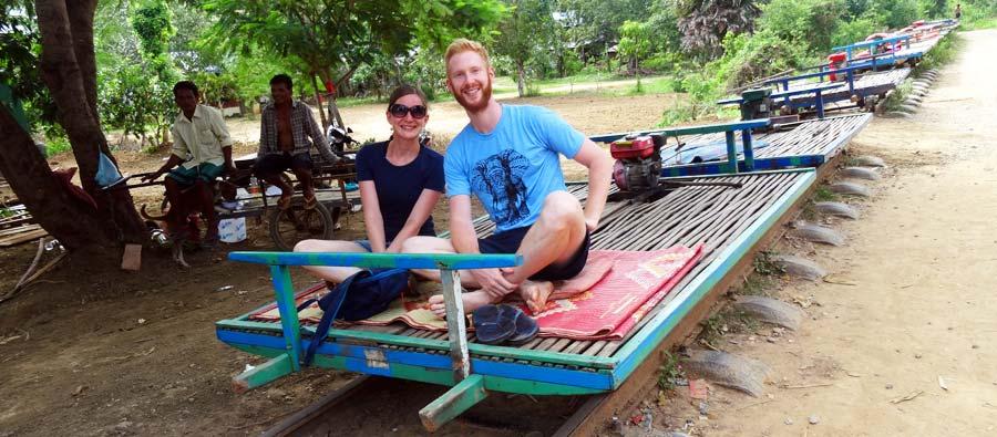 Battambang Kambodscha: Mit dem Bamboo Train durch den kambodschanischen Dschungel