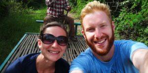 Battambang Sehenswürdigkeiten: Mit dem Bamboo Train zu fahren macht riesig Spass!