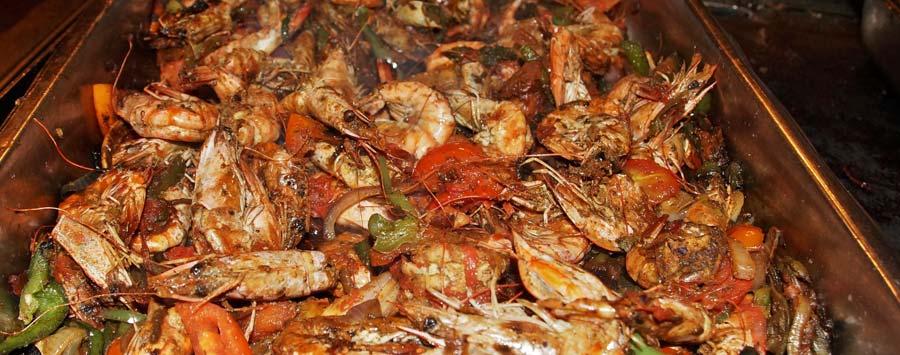 Leckere Meeresfrüchte auf dem Fischmarkt von Kep, unweit von Kampot
