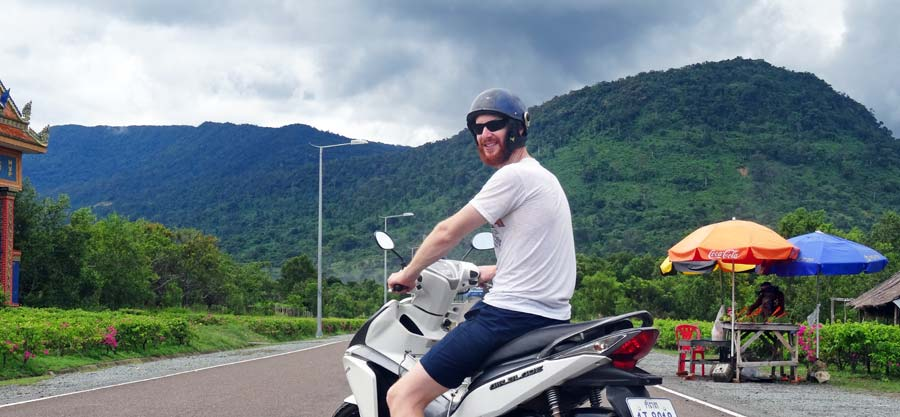 Auf dem Weg zum Bokor Nationalpark bei Kampot
