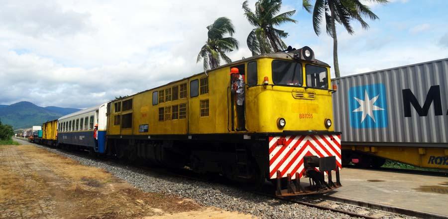 Der Zug von Kampot nach Phnom Penh