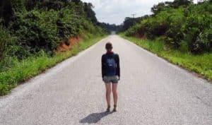 Einsame Straße bei