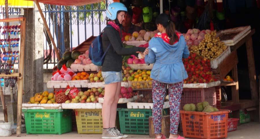 Thakhek Loop: Überall gibt es kleine Märkte