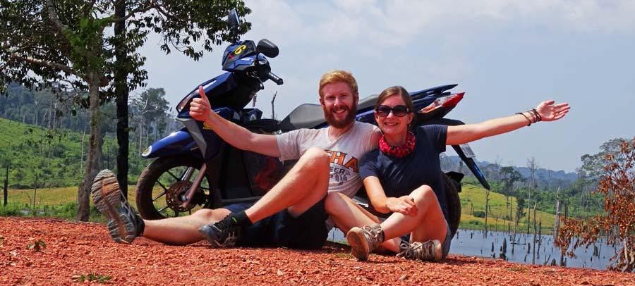 The Loop: Wir mit unserer Honda 125 auf dem Thakhek Loop