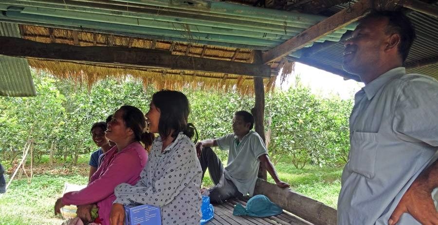 Solar Kambodscha: Neugierige Nachbarn zu Besuch