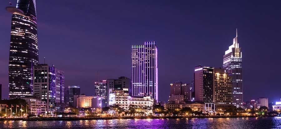 Skyline von Ho Chi Minh Vietnam